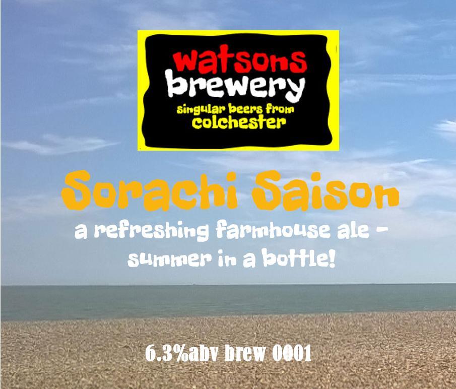 Brew 1 : Sorachi Saison
