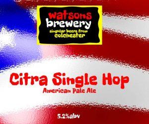 Brew 20 : Citra Single Hop American Pale Ale